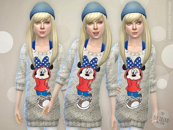 Sims 4 Minnie Knit Dress by lillka at TSR