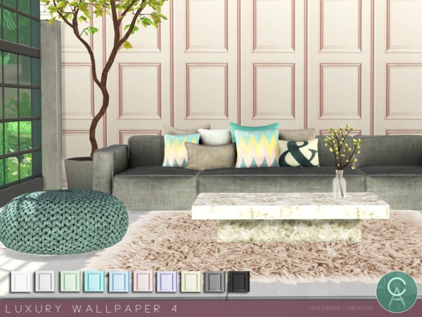 Luxury Wallpaper 4 by Pralinesims at TSR image 3912 Sims 4 Updates