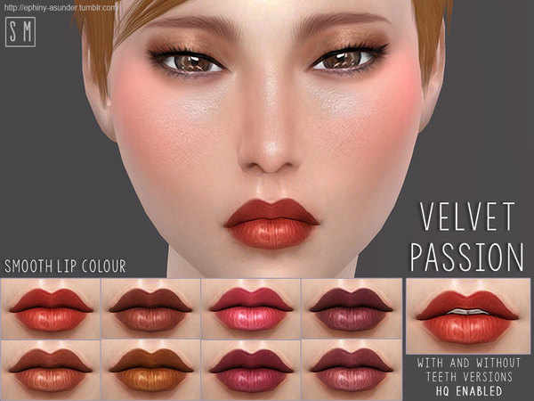 Sims 4 Velvet Passion Smooth Lip Colour by Screaming Mustard at TSR