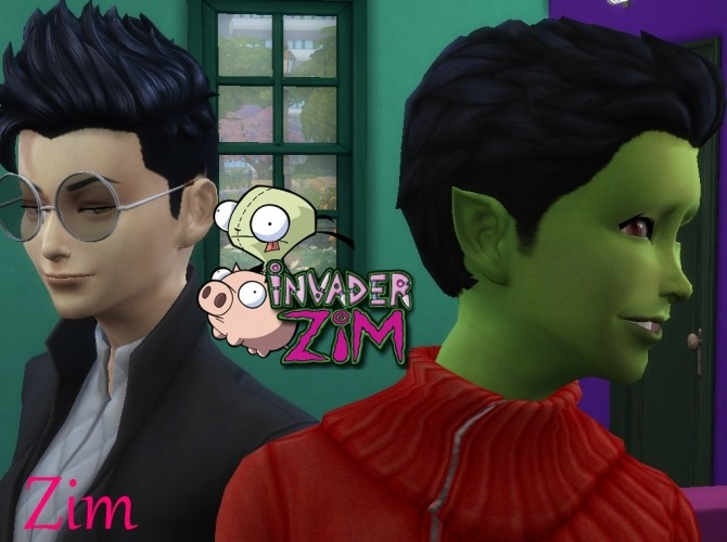 Sims 4 Project Invader Zim (Minimal CC) by Mixceny at Mod The Sims