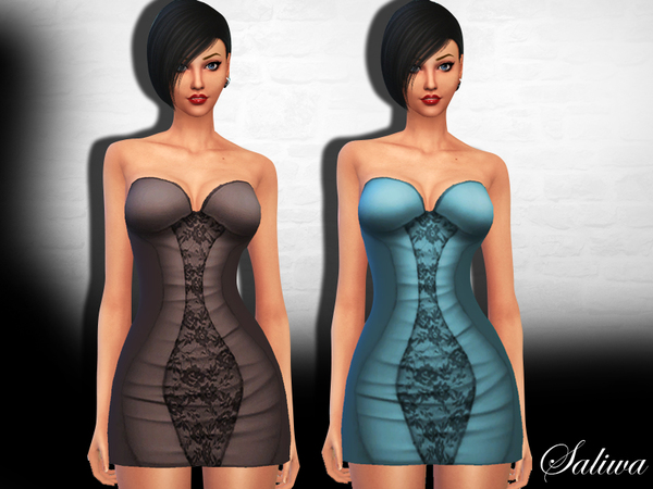 Sims 4 Serenity Dress by Saliwa at TSR
