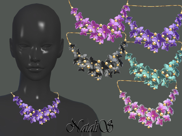 Massive flower necklace by NataliS at TSR image 4100 Sims 4 Updates