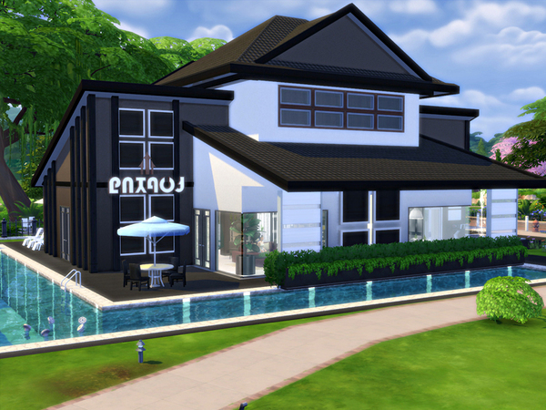 Sims 4 Gralid traditional house by marychabb at TSR