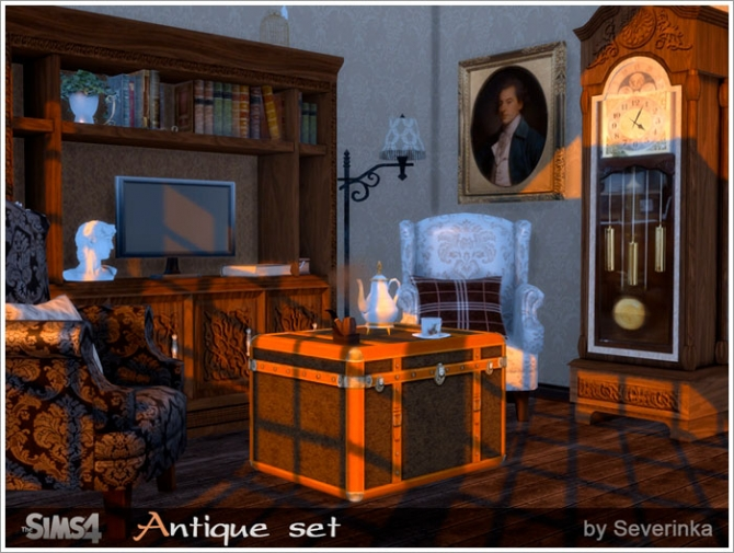 Antique Set Old English Style At Sims By Severinka 187 Sims