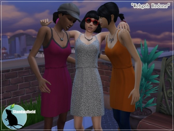 Sims 4 Makeover of Wehgeh dress by Standardheld at SimsWorkshop