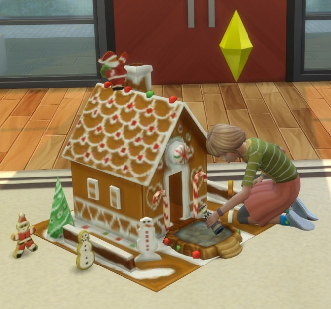 2 to 4 Gingerbread Dollhouse Plus Cookies as toys by BigUglyHag at SimsWorkshop image 4217 670x625 Sims 4 Updates
