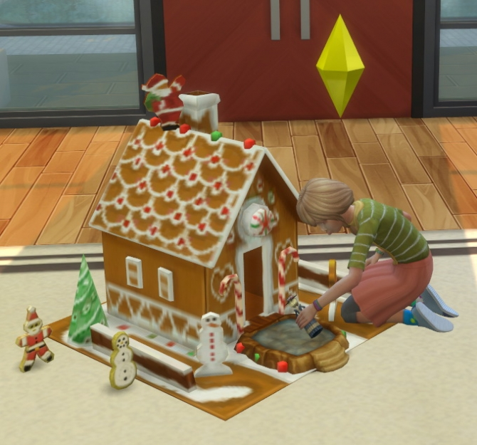 2 To 4 Gingerbread Dollhouse Plus Cookies As Toys By