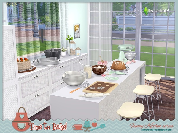 Sims 4 Funny kitchen series Time to bake by SIMcredible at TSR