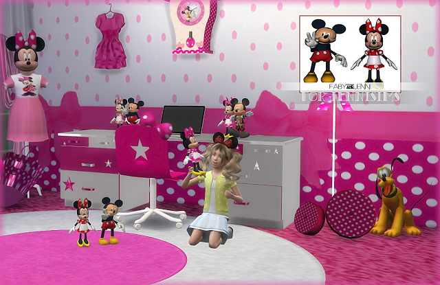 Sims 4 Mickey & Minnie Toys Faby at Jenni Sims