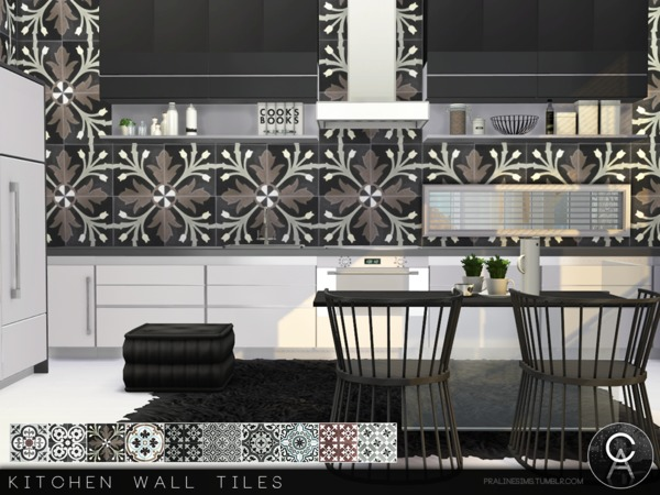 Kitchen Wall Tiles by Pralinesims at TSR image 4417 Sims 4 Updates