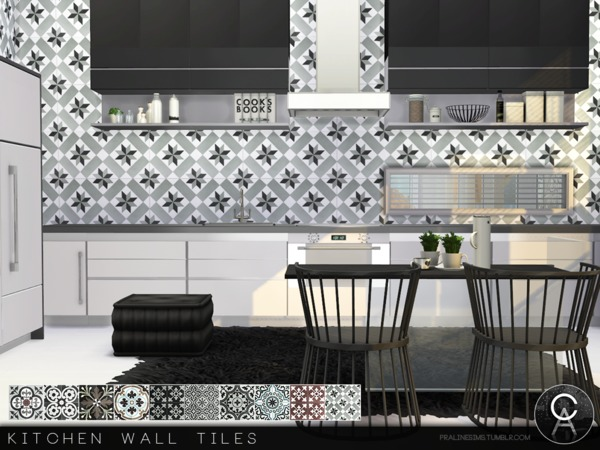 Kitchen Wall Tiles by Pralinesims at TSR image 4516 Sims 4 Updates
