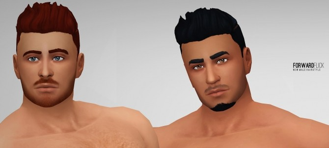 Forward Flick hair for males by Xld Sims at SimsWorkshop image 461 670x303 Sims 4 Updates