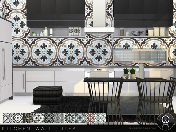 Kitchen Wall Tiles by Pralinesims at TSR image 4618 Sims 4 Updates