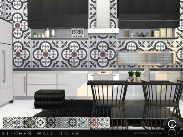 Kitchen Wall Tiles by Pralinesims at TSR image 4716 Sims 4 Updates