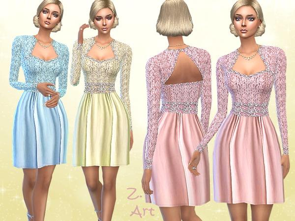 Sims 4 Pastel Shine dress by Zuckerschnute20 at TSR