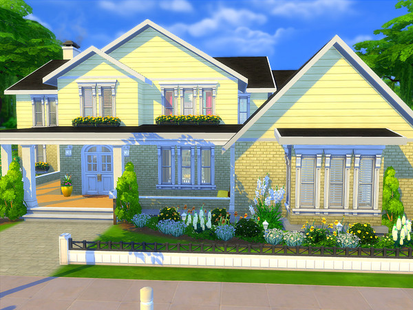 Sims 4 The Regency house by sharon337 at TSR