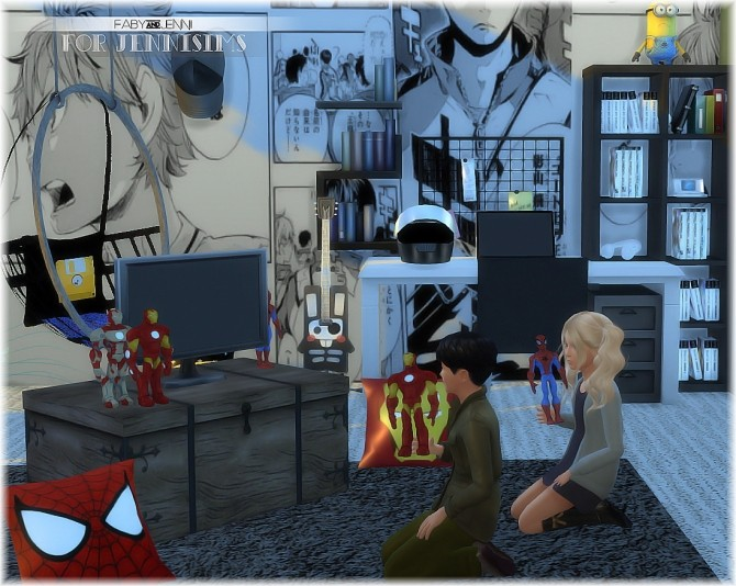 Marvel Heroes ,Iron Man,Spider Man Toys Faby at Jenni Sims image 4814 670x534 Sims 4 Updates