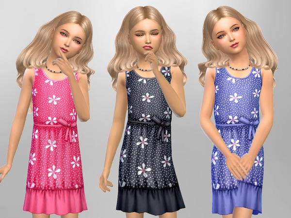 Girls Flower Polka Dots by SweetDreamsZzzzz at TSR image 4817 Sims 4 Updates