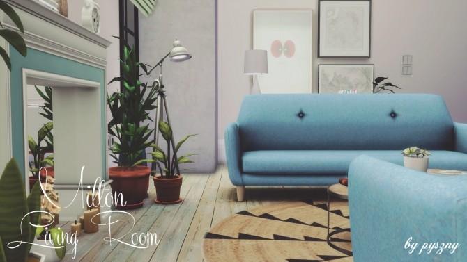 Sims 4 Milton Livingroom at Pyszny Design