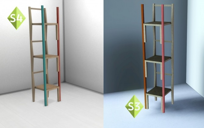 Sims 4 #CCforAnette shelf at Baufive – b5Studio