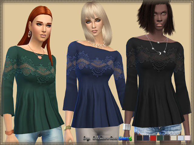 Sims 4 Lace Shirt at Bukovka