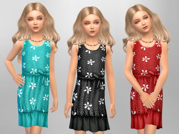 Girls Flower Polka Dots by SweetDreamsZzzzz at TSR image 4917 Sims 4 Updates