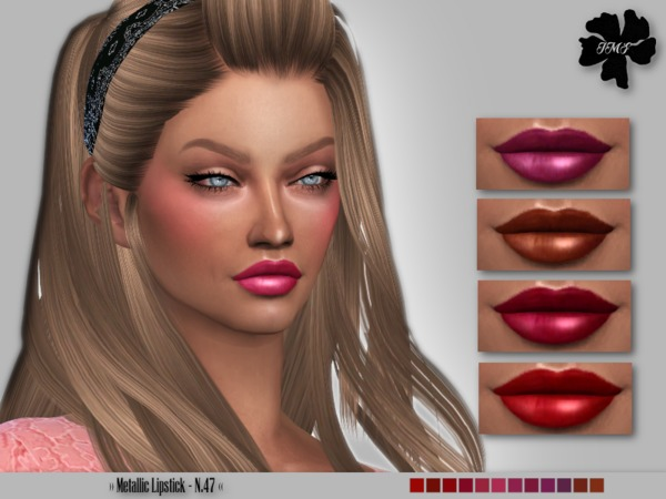 Sims 4 IMF Metallic Lipstick N.47 by IzzieMcFire at TSR