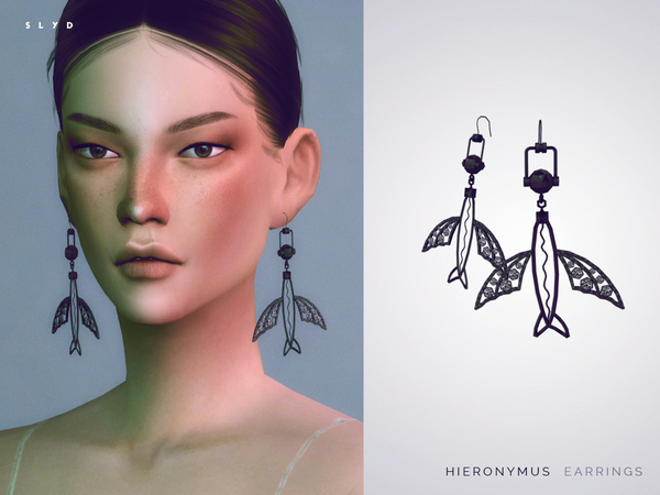 Sims 4 Hieronymus Earrings by SLYD at TSR