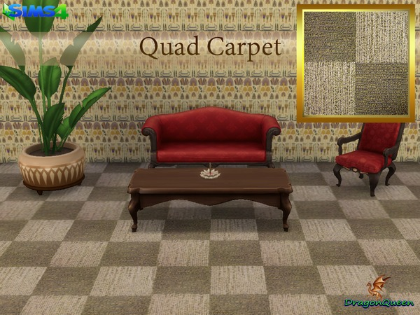 Sims 4 Quad Carpet by DragonQueen at TSR
