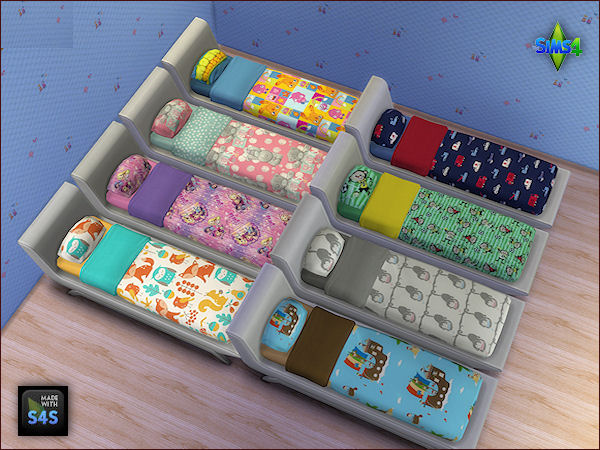 Sims 4 Set with beddings for boys and girls at Arte Della Vita