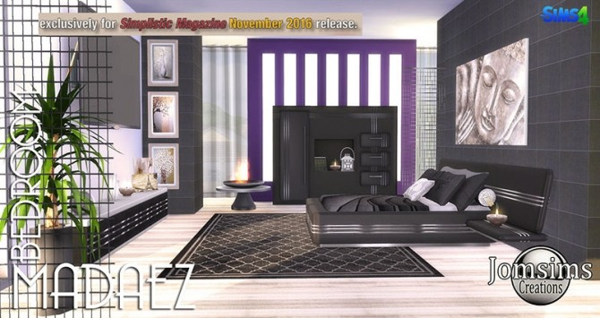Sims 4 Madaez bedroom at Jomsims Creations