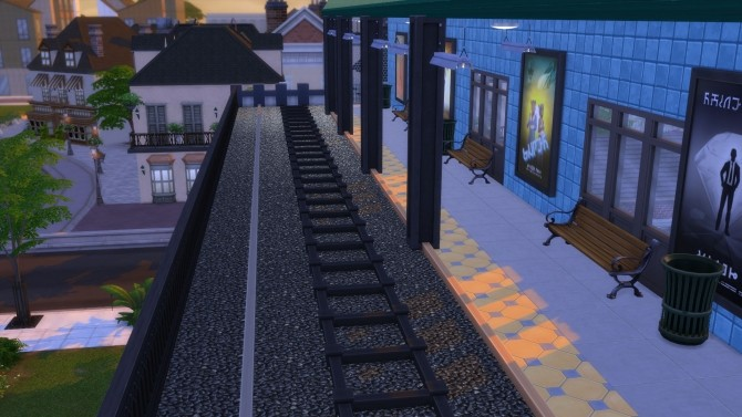The Elevated Train And Shops By Snowhaze At Mod The Sims