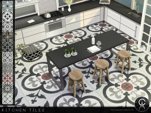 Sims Floor Elevation Cheat : Kitchen floor tiles by pralinesims at tsr sims updates