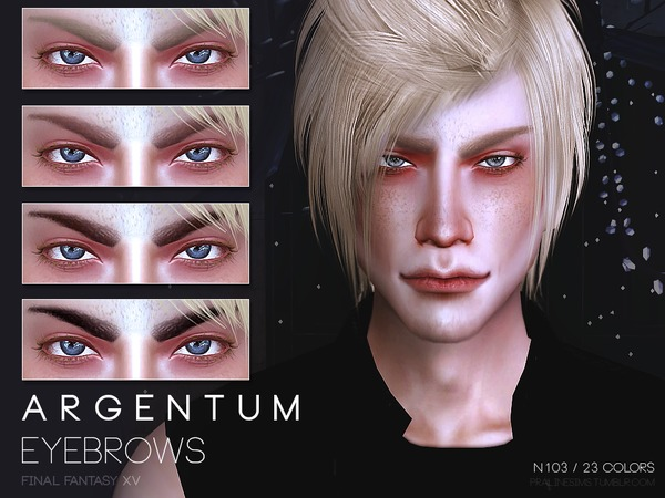 Argentum Eyebrows N103 by Pralinesims at TSR image 540 Sims 4 Updates