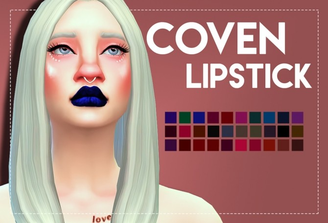 Sims 4 Coven Lipstick by Weepingsimmer at SimsWorkshop