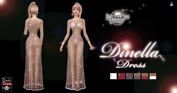 Dinella dress at Jomsims Creations image 5417 670x355 Sims 4 Updates