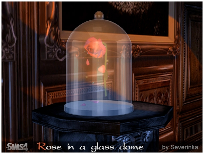 Rose In A Glass Dome At Sims By Severinka 187 Sims 4 Updates