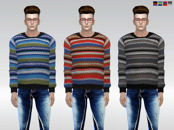 Sims 4 Cottage Wool Sweater by McLayneSims at TSR