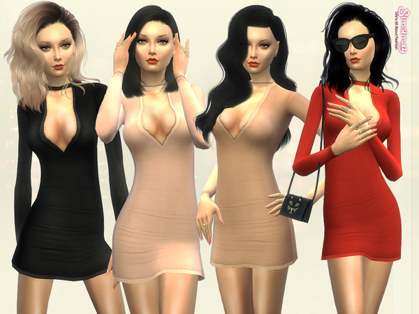 Sims 4 Simple Yet Elegant Dress by Simsimay at TSR