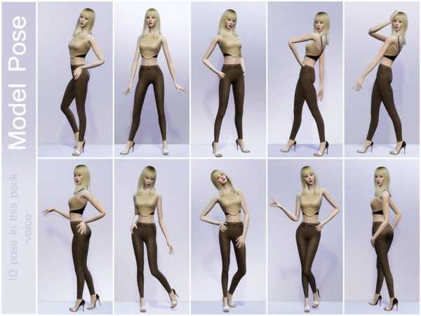 Sims 4 Voice Model Pose by lancangzuo114 at TSR