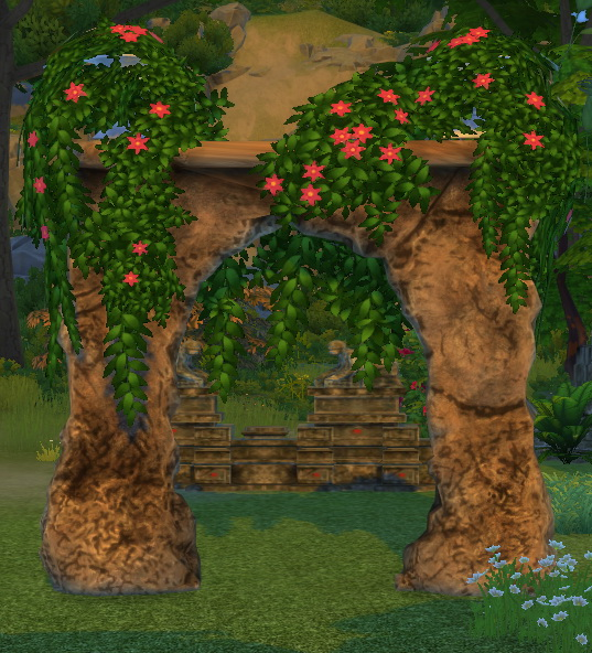 Sims 4 Laticis Fractured Wall as a wedding arch by BigUglyHag at SimsWorkshop