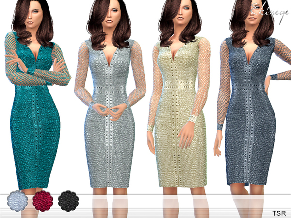 Cocktail Dress by ekinege at TSR image 570 Sims 4 Updates