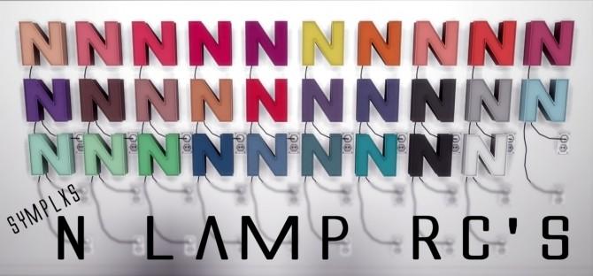 Sims 4 N Lamp RCs by Sympxls at SimsWorkshop