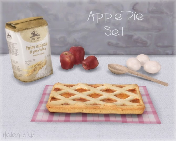 Apple Pie Set at Helen Sims image 5717 670x535 Sims 4 Updates