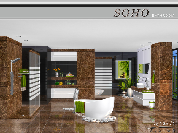 Soho Bathroom by NynaeveDesign at TSR image 590 Sims 4 Updates