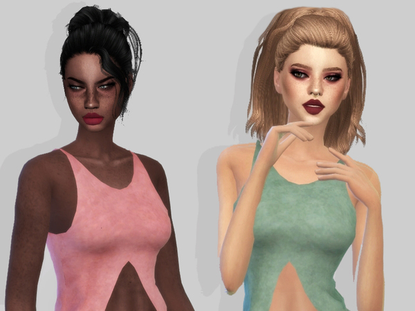 Sims 4 High Low Top by mxfsims at TSR