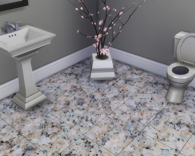 Sims Floor Elevation Cheat : Glossy granite floor tiles by madhox at mod the sims