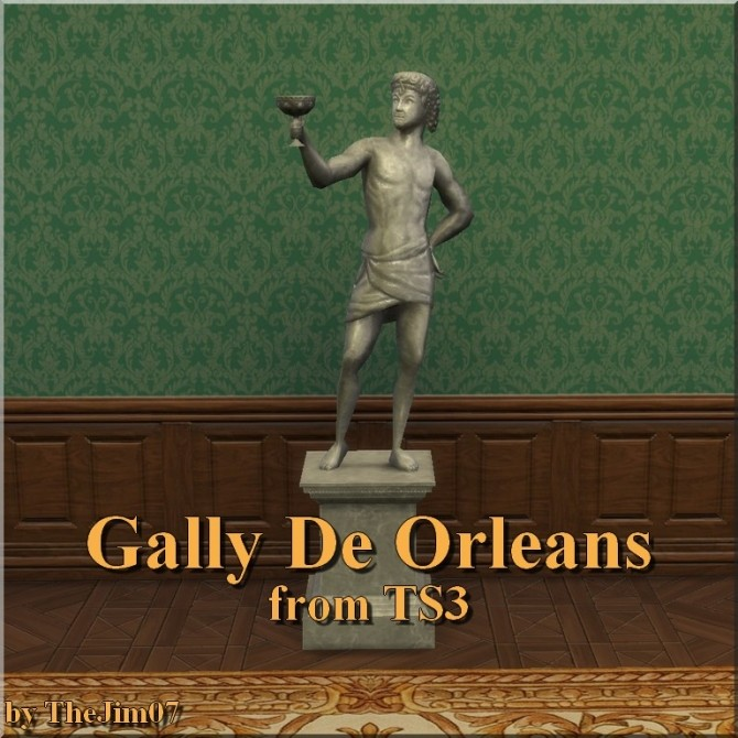 Gally De Orleans Statue from TS3 by TheJim07 at Mod The Sims image 6018 670x670 Sims 4 Updates