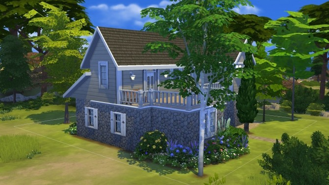 Sims 4 Country Blossom house by PolarBearSims at Mod The Sims