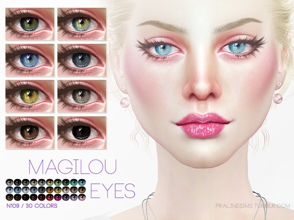 Sims 4 Magilou Eyes N109 by Pralinesims at TSR